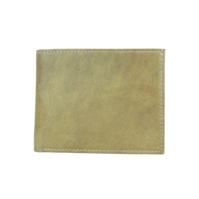 Elegantná peňaženka z pravej kože č.8406 v khaki farbe (2)