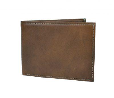 Elegantná peňaženka z pravej kože č.8552 v hnedej farbe (1)
