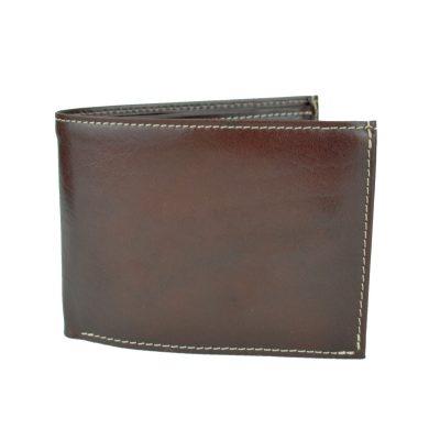 Elegantná peňaženka z pravej kože č.8552 v tmavo hnedej farbe (3)