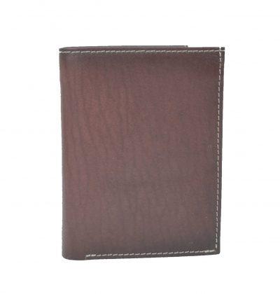 Luxusná kožená peňaženka č.8560 v tmavo hnedo fialovej farbe (3)