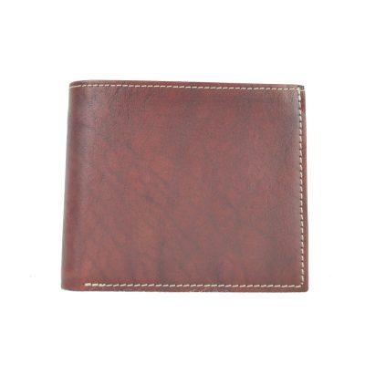 Luxusná peňaženka z pravej kože č.7942 v bordovej farbe (2)