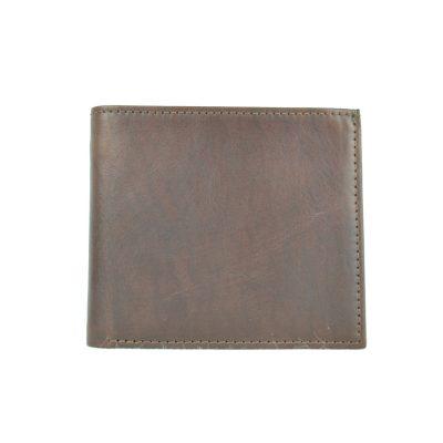 Pánska luxusná peňaženka z pravej kože č.7942 v tmavo hnedej farbe (2)