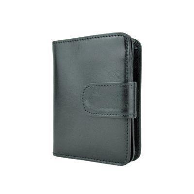 Dámska malá praktická kožená peňaženka č.8504 v čiernej farbe (2)