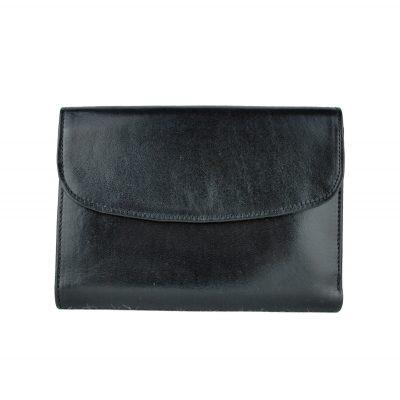 Kožená dámska peňaženka č.8465 v čiernej farbe z pravej usne (4)