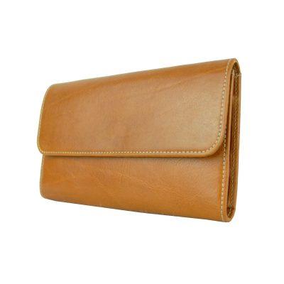 Kožená dámska peňaženka č.8465 v khaki farbe (2)