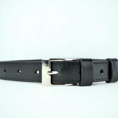 Kožený opasok 3cm, čierny (3)