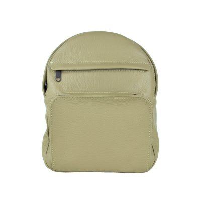Luxusný kožený batoh z prírodnej kože, khaki farba (1)