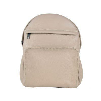 Luxusný kožený batoh z prírodnej kože, ružová farba (1)