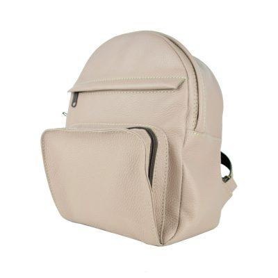 Luxusný kožený batoh z prírodnej kože, ružová farba (4)