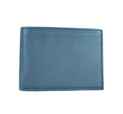 Pánska peňaženka z pravej kože v tmavo modrej farbe (2)