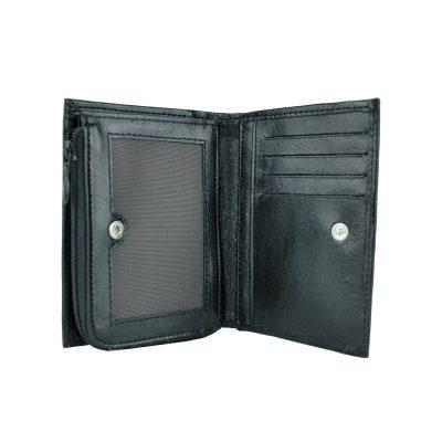 Dámska malá peňaženka z kože č.8361 v čiernej farbe (2)