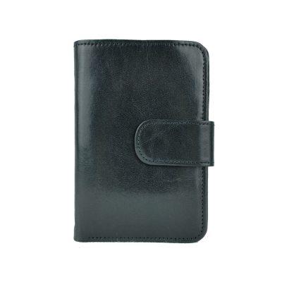 Dámska praktická kožená peňaženka č.8503 v čiernej farbe (1)