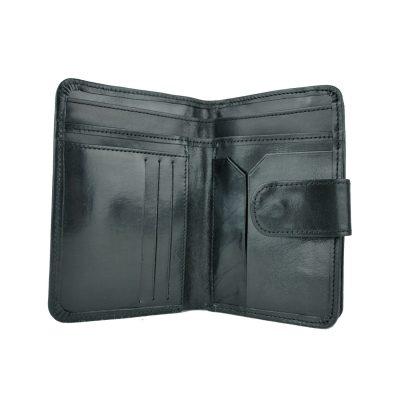 Dámska praktická kožená peňaženka č.8503 v čiernej farbe (3)