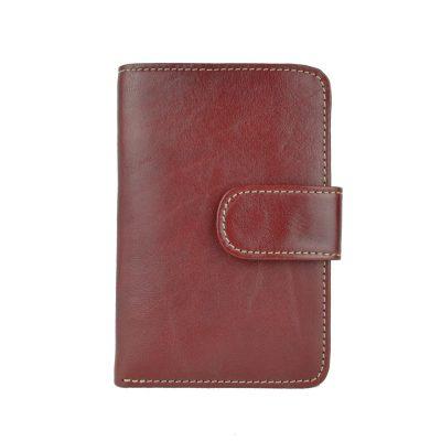 Dámska praktická kožená peňaženka č.8503 v bordovej farbe (1)