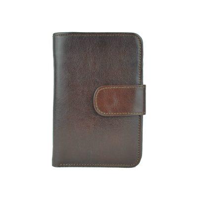 Dámska praktická kožená peňaženka č.8503 v hnedej farbe (1)