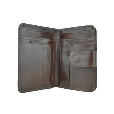 Dámska praktická kožená peňaženka č.8503 v hnedej farbe (3)
