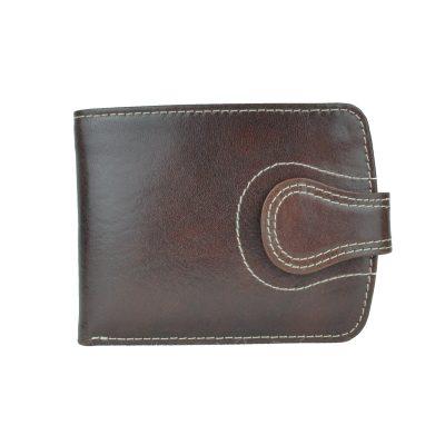 Elegantná kožená peňaženka č.8467 v tmavo hnedej farbe (1)