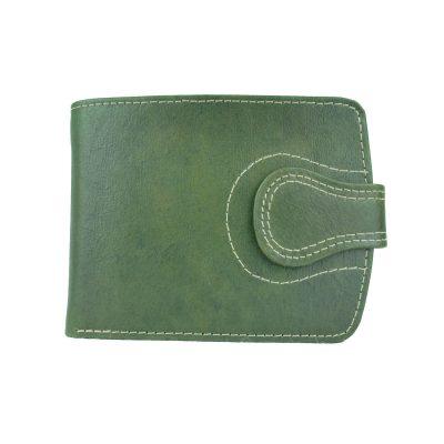 Elegantná kožená peňaženka č.8467 v zelenej farbe, ručne tamponovaná (1)