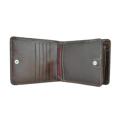 Peňaženka z prírodnej kože č.7992 v tmavo hnedej farbe (4)