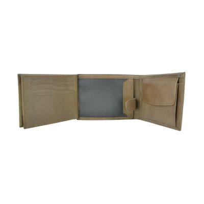 Luxusná peňaženka z pravej kože č.8552 v hnedej farbe, ručne tamponovaná (2)