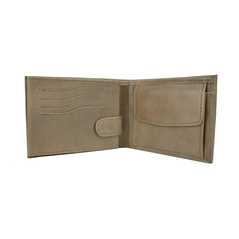 Luxusná peňaženka z pravej kože č.8552 v hnedej farbe, ručne tamponovaná (4)