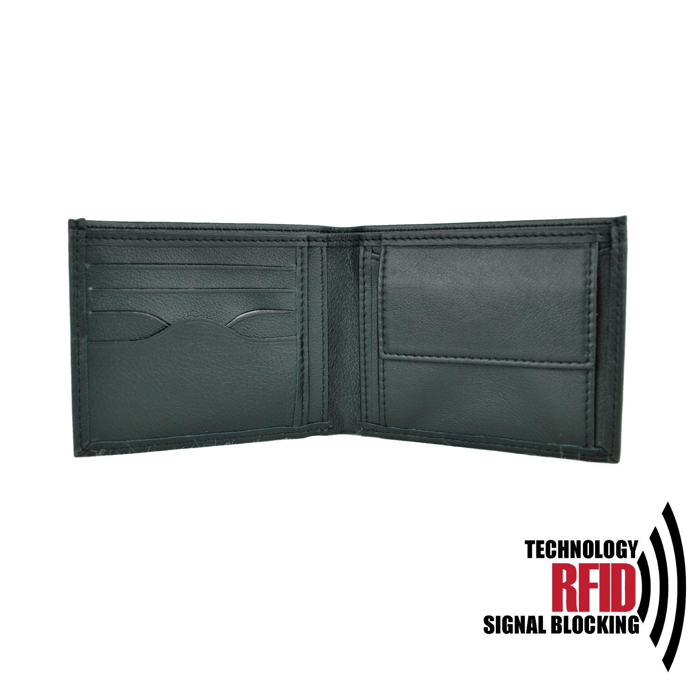 Kožená RFID peňaženka vybavená blokáciou RFID NFC, čierna farba č (1)