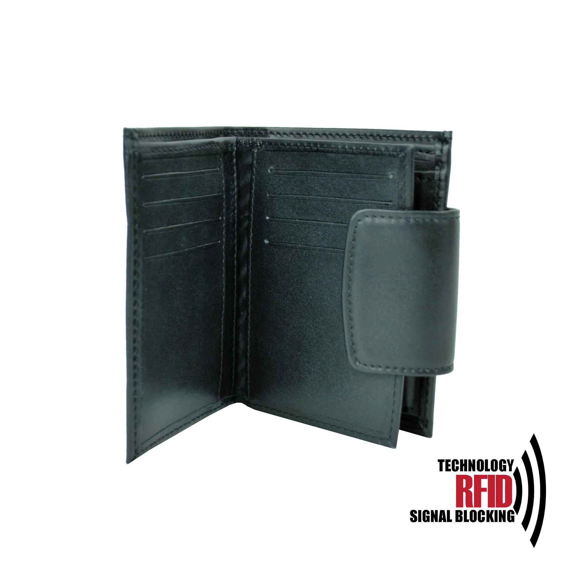 aaa39244d Kožená RFID peňaženka vybavená blokáciou RFID / NFC