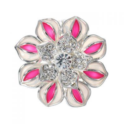 Romantický ozdobný šperk na šatku v tvare ružového kvetu