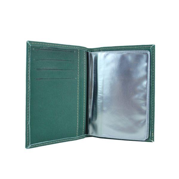 Púzdro na doklady z pravej prírodnej kože v zelenej farbe (1)