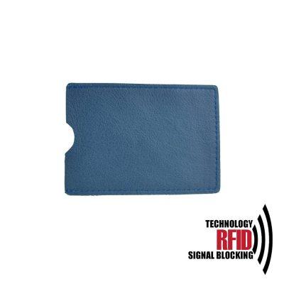 Kožené RFID púzdro vybavené blokáciou RFID NFC, modrá farba (2)