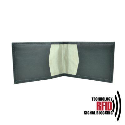 Kožené RFID púzdro vybavené blokáciou RFID NFC v čiernej farbe