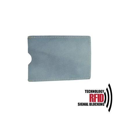 Ochranné kožené púzdro na debetné a kreditné karty, svetlo fialová farba (1)