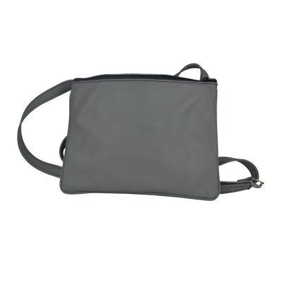 Exkluzívna kožená mini kabelka č.8628 v šedej farbe