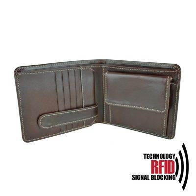 Kožená RFID peňaženka