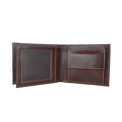 Elegantná peňaženka z pravej kože č.8407 v tmavo hnedej farbe