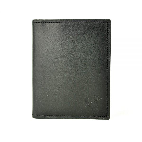Púzdro na karty a doklady z prírodnej kože v čiernej farbe