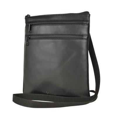 kožená taška crossbody čierna
