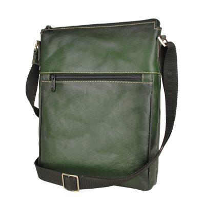 kožená taška crossbody zelená