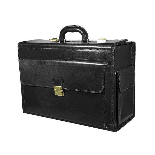 Cestovný kufor č.8174 bez mechaniky v čiernej farbe
