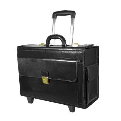 Cestovný kufor č.8174 s mechanikou v čiernej farbe
