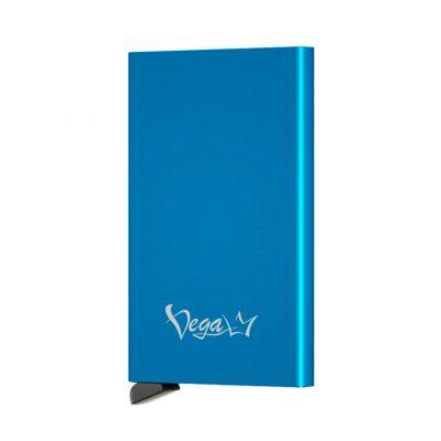 Inteligentné RFID púzdro na karty s patentovaným mechanizmom v modrej farbe - VEGALM
