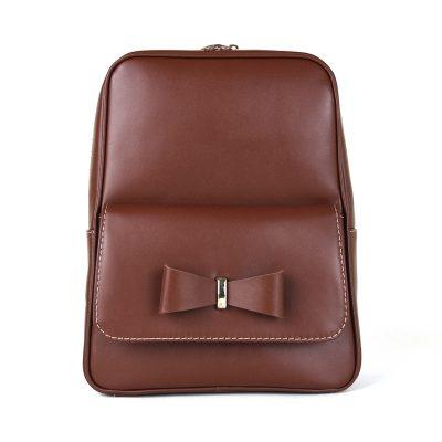 Exkluzívny kožený ruksak z pravej hovädzej kože č.8666 v hnedej farbe