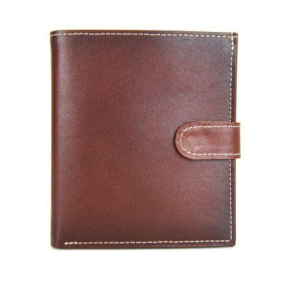 Exkluzívna kožená peňaženka č.8333 v hnedej farbe, ručne tamponovaná...